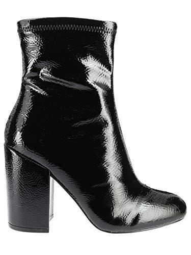 Luxury Fashion | Steve Madden Dames GOLDIEBLACK Zwart Lak Enkellaarzen | Seizoen Outlet