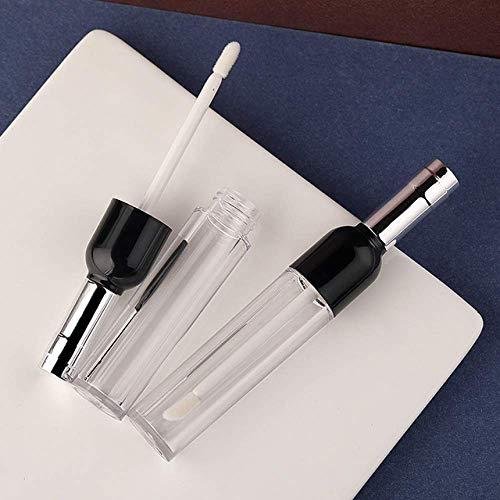 5 Stück 4,5 ml Weinflaschen-Form Lipgloss Tube Lippen Balsam Flasche Behälter nachfüllbar leere...