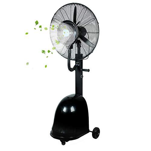 Airconditioning Fan vloerventilator met sproeifunctie, oscillerende vloerventilator voor binnen en buiten, voor snel afkoelen, 3 snelheden, handmatig bijvullen van water, 4