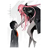 upain Póster de anime manga DARLING in the FRANXX 02 para pared, 42 x 29 cm