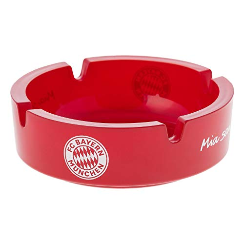 FC Bayern München Aschenbecher rot, rund Ascher, Ashtray FCB - Plus Lesezeichen I Love München