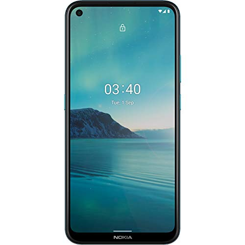 Nokia 3.4 Unlocked Android Smartphone with 3/64 GB Memory, 6.39-Inch HD+ Screen, Triple Camera, and 2-Day Battery, Fjord (AT&T/T-Mobile/Cricket/Tracfone/Simple Mobile/Mint/Ultra Mobile)