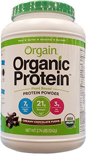 Orgain Organic PlantBased Protein Powder Creamy Chocolate Fudge 274 Pound 0