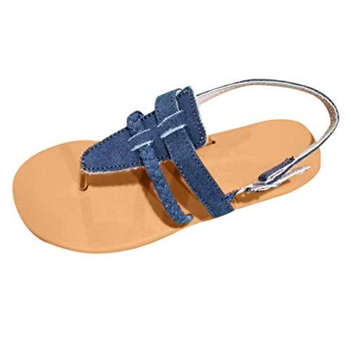 Vovotrade dames sandalen teenslippers platte zomerschoenen casual strappy sandalen riemjessandalen 35-43