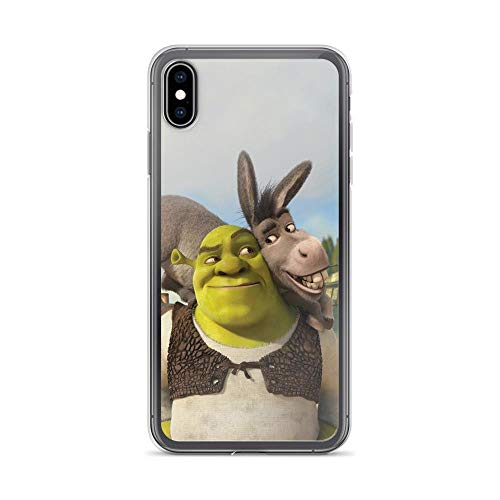 Fastei Compatible with iPhone 7 Plus/8 Plus Case Shreks Animated Comedy Film Glance Eyes Donkey Lean Head Shoulder Smile Fan Arts Pure Clear Phone Cases Cover