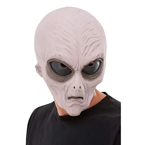 NET TOYS Originelle Alien-Maske für Erwachsene - Rosa - Geheimnisvolle Party-Maskerade Außerirdischer - Perfekt geeignet für Fasching & Karneval