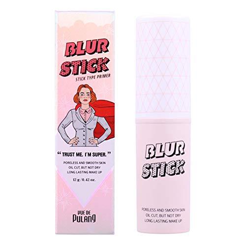 VUE DE PULANG Stick Face Primer, Poreless Pore Minimizer Make Up Primer Blur Stick, Magic Pore Eraser Primer for Face Makeup, Calamine Power Makeup Helps Acne Treatment, Makeup Face Primer, 0.42oz