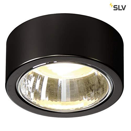 SLV Deckenleuchte CL 101   Runde Deckenlampe LED zur Beleuchtung innen   Dezenter Deckenstrahler rund, Innen-Leuchte LED, Wohnzimmer-Lampe, Flur-Leuchte, LED Strahler Decke   GX53, max. 11W, EEK B-A++