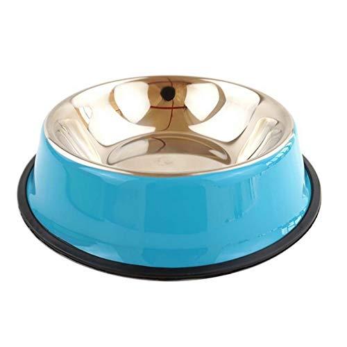 Hundeschüsseln Hundeschalen Edelstahl Reise Footprint Fütterung Feeder Wasserschüssel für große Hunde Füttern Teller Fit Alle Pet Puppy Cat Bowl Katzenschüsseln (Color : Blue, Size : 3X-Large)