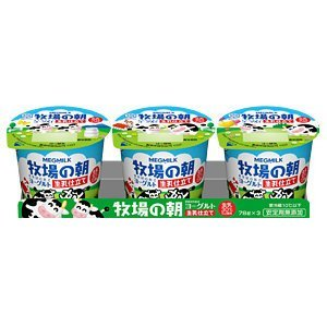 牧場の朝ヨーグルト 生乳仕立て 70g 【冷蔵】/雪印メグミルク(2パック)