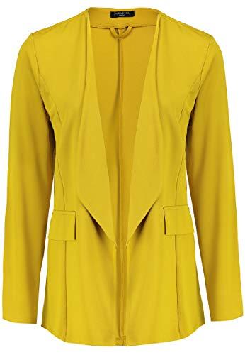 Sublevel Damen Blazer mit Reverskragen und Ziertaschen Yellow M