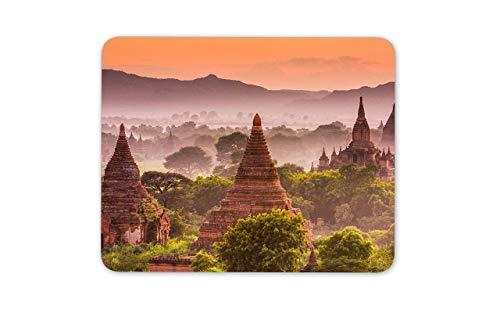 WOTAKA Gaming-Mauspad,Bagan Myanmar,Rutschfest Verschleißfestes Und Haltbares Gummi,Mousepad Für Bürocomputer,9.5