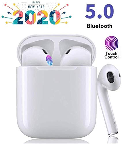 Bluetooth Kopfhörer, In Ear Kabellos Kopfhörer TWS Bluetooth 5.0 Headset Noise Cancelling Ohrhörer mit Mikrofon und Tragbare Ladehülle kompatibel mit Apple Airpods Android/AirPods Pro/iPhone/Samsung