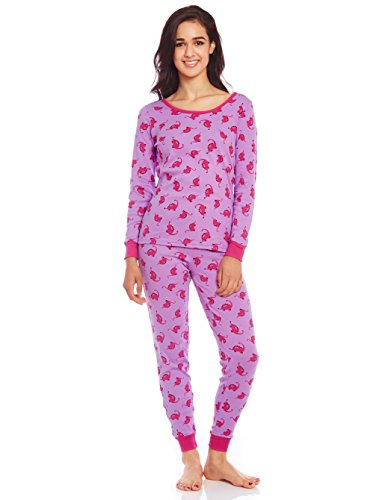 Leveret Women 2 Piece Pajama Dinosaur Small