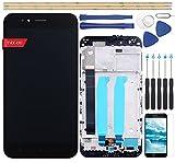 YHX-OU Pantalla LCD Retina de repuesto completa para Xiaomi Mi A1 / Mi 5X con marco con herramientas de pantalla táctil (negro)