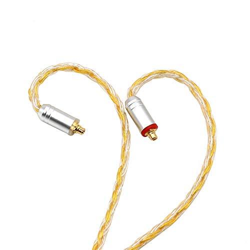 TripowinZonie16コアー銀メッキケーブル&SPCHIFIイヤホンアップグレードケーブル0.78mm2pin端子/MMCX端子/QDC端子のコネクター&2.5mmバランスプラグ/4.4mmバランスプラグ/3.5mmShure/Westone/KZ/TinHiFi/などのブランドのイヤホンにうまく対応できる高品質アップグレードケーブル(3.5mm-MMCX,金色)