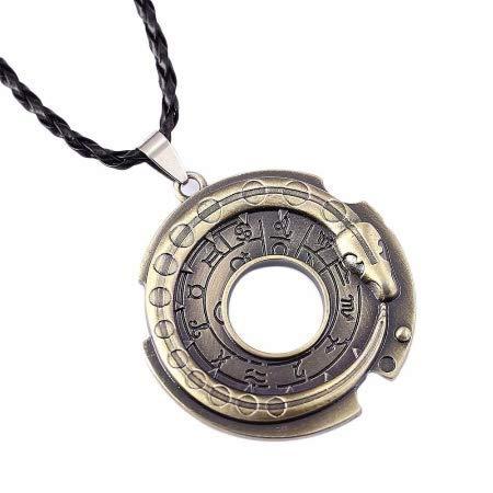 Collar talismán con amuleto de serpiente Ouroboros egipcio