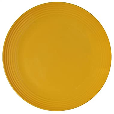 Melange 6-Piece  Melamine Dinner Plate Set (Solids Collection ) | Shatter-Proof and Chip-Resistant Melamine Dinner Plates | Color: Yellow