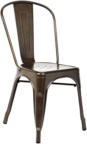 Pioneer Square Haley Stackable Metal Chair Set of 4 Copper Brown