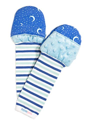 Handsocks Plushy Stay On Strap-Free No-Scratch & Warmth Mittens (Large (Toddler 18+ Months. Bicep Should be 5.5-9.0), Sweet Caroline (Stars))