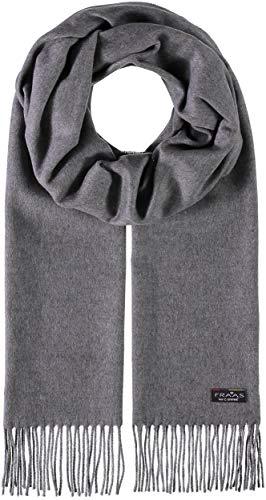 FRAAS FRAAS Cashmink® Schal für Damen & Herren - Weicher als Kaschmir - 35 x 200 cm - Made in Germany - Perfekt für den Winter - Schal mit Fransen in Uni-Farben Grey