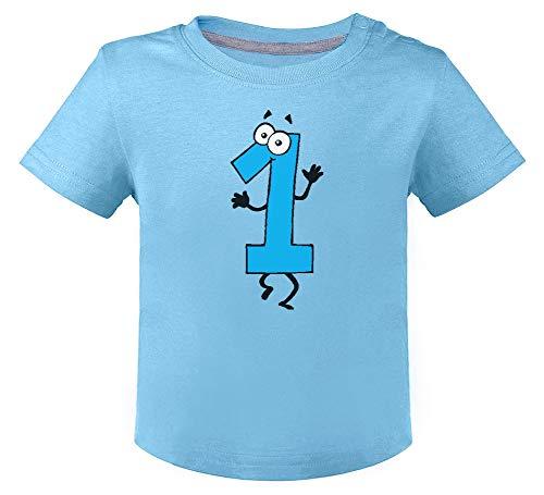 Green Turtle T-Shirts Cadeau d' Anniverssaire 1 an Rigolo Humour T-Shirt Bébé Unisex 12M Bleu Ciel