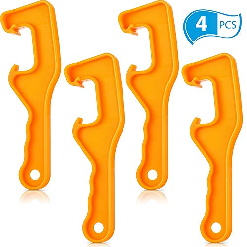 4 Pieces Plastic Bucket Lid Opener 5 Gallon Paint Can Opener Bucket Opener Wrench Tool Lid Remover for Home Industrial Use