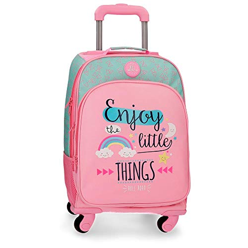Roll Road Little Things Mochila escolar, 44 cm, 29.57 litros, Rosa