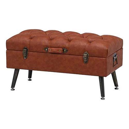 不二貿易 トランクベンチ ドーシェ アジャスター付き(ブラウン)アンティークデザインベンチ Dauchez 18560