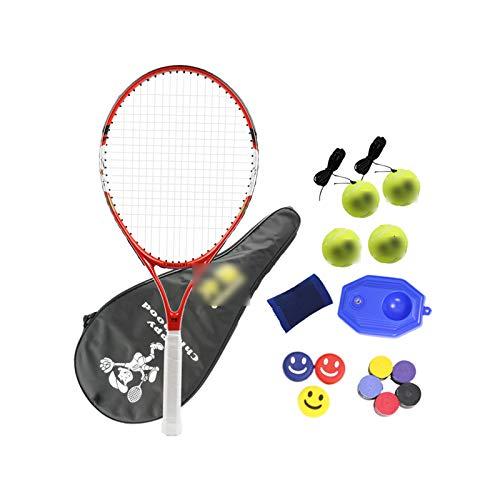 Mikelabo - Raqueta de tenis para niños, 27 unidades, color rojo