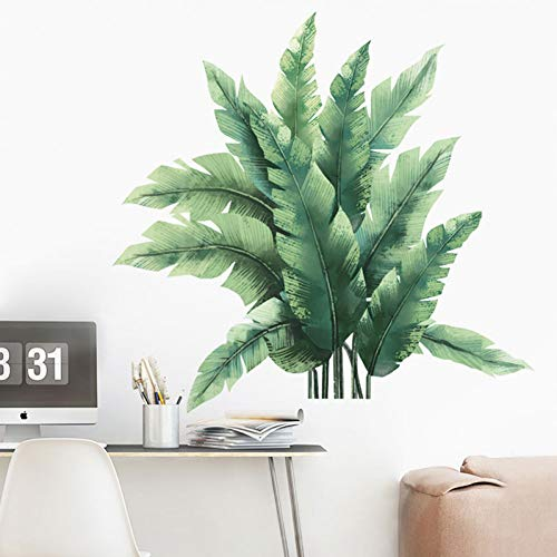 Abnehmbare grüne Bananenblatt-Wandaufkleber für Wohnzimmer Schlafzimmerpflanzen Vinyl Selbstklebende Abziehbilder Wanddekoration Wohnkultur