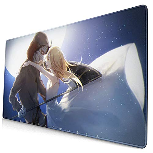 Anime Angels of Death Mouse Pad with Stitched Edge Premium-Textured Mouse Mat Rectangle Non-Slip Rubber Base Oversized Gaming Mousepad,for Laptop Computer & Pc 15.8x29.5 Inches
