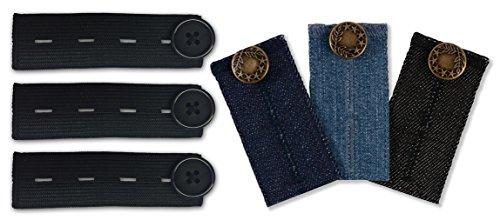 mama band Comfy Fit Hosenerweiterung in  Optik Hosenbunderweiterung für hosen, 6er Pack, Jeans