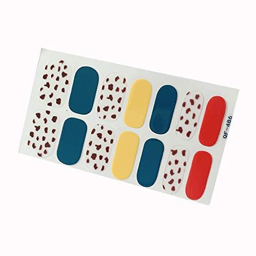 Leopard Print Nail Sticker Glass Purple Net Red Full Sticker Small Fresh Nude Nail Sticker Waterproof Tearable Nail Sticker
