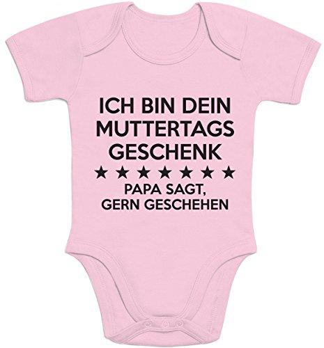 Shirtgeil Ich Bin Dein Muttertagsgeschenk Papa SAGT Gern Geschehen Baby Body Kurzarm-Body 3-6 Monate Rosa
