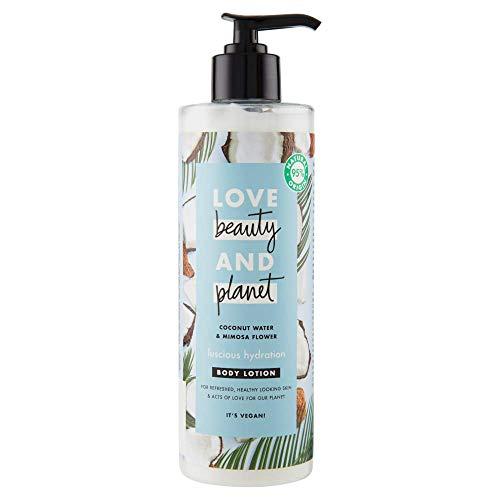 Love Beauty and Planet Loción corporal agua de coco y flor de mimosa Luscious Hydration - 400 ml