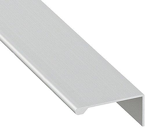 Design Griffleiste Aluminium Möbelgriff Küche Profilleiste kürzbar L-Form - H8100 | Länge 2500 mm | Griff silber eloxiert | MADE IN GERMANY | Schrankgriff zum Schrauben | 1 Stück - Schubladengriff Alu