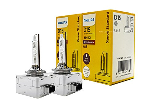 D1S - PHILIPS 4300K XenStart OEM HID/Xenon Replacement bulbs 85415C1 35W DOT Germany - Pack of 2 by ALI