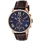 Tommy Hilfiger Men's Quartz Watch with Leather...