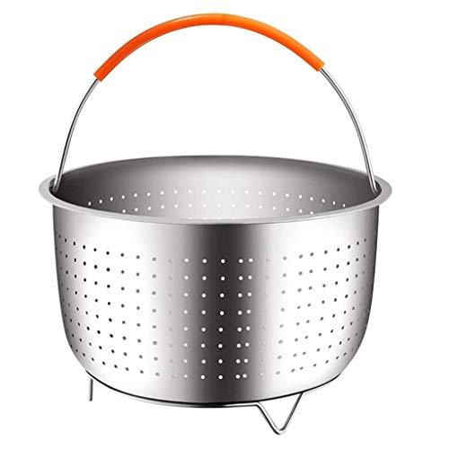 HOT1950s Stainless Steel Steam Basket Household Steamer Basket for 3 Quart /6 Quart8/ Quart Instant Pot Pressure Cooker Instant Pot Steamer Basket (18x12cm)