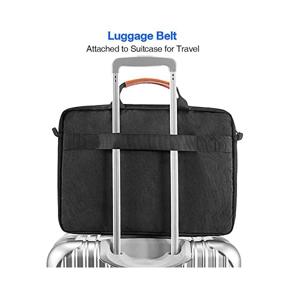 """tomtoc 13.5 Inch Laptop Shoulder Bag for 13-inch MacBook Pro, MacBook Air, Surface Book, Surface Laptop, Multi… 7 Compatibility: External dimensions- 14.17"""" x 10.43"""" x 2.76""""; Universal fit 13-inch MacBook Pro, MacBook Air, 12.9"""" iPad Pro, Microsoft Surface Book, Surface Laptop, Dell XPS 13, and more 13-inch laptops ultrabooks chrome books Ultra Protection: tomtoc laptop shoulder bag features protective padding at the bottom of the individual laptop compartmentand ultra-thick, yet lightweight protective cushioning to ensure your laptop will remain safe from drops, bumps, dents, scratches and spills, like the car airbag Well-organized: The main compartment features a laptop slot and a tablet slot for up to 11"""" iPad Pro with smart case & keyboard. Two front pockets With small and large pockets, and multiple elastic bands to make it easier than ever to organize accessories such as charger, cable, mouse, hub etc."""