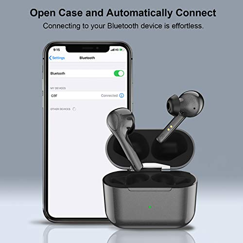Donerton Wireless Earbuds Bluetooth 5.0 Headphones, 8H Single Playtime Bluetooth Earphones, TWS Stereo Noise Cancelling Wireless Waterproof Earbuds Headset with Buit-in Mic, Type-C Charging Port