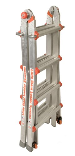Little Giant Classic 10102LGW 300-Pound Duty-Rating Ladder System with Work Platform, 17-Foot