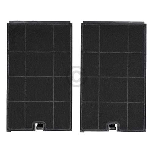 Lot de 2 filtres à charbon DL-pro pour hotte Whirlpool Bauknecht 48400008675 Wpro CHF035 Type35 Indesit C00384663