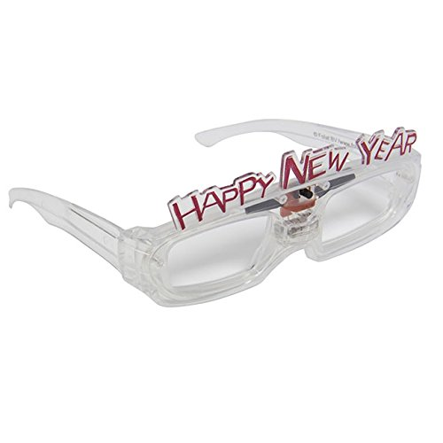 Folat zonnebril Happy New Year LED, meerkleurig, 5FL24843