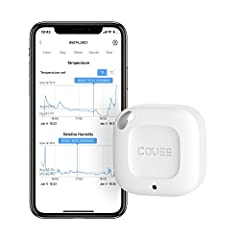 WIRELESS APP CONTROL: Easily monitor temperature and humidity data in real-time on the Govee Home app using Bluetooth. 328ft connecting distance (no obstacles) allows you to quickly monitor temp and humidity remotely from anywhere in your home. (Not ...