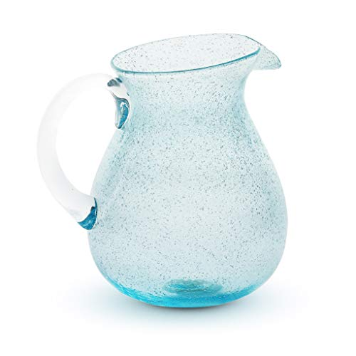 Caraffa in vetro con manico Memento Originale Light Blue