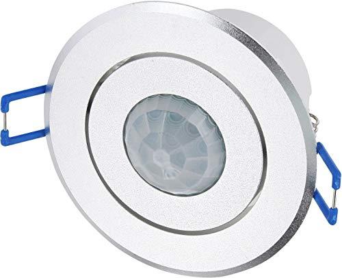 Einbau IR Bewegungsmelder 360° schwenkbar - Metall-Gehäuse - Aluminium-Blende - LED geeignet - max. 1200W 230V