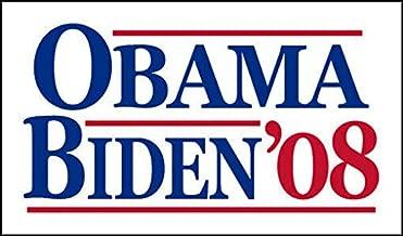 MAGNET 3x5 inch Vintage Obama Biden '08 Sticker (Election Political Logo 2008) Magnetic vinyl bumper sticker sticks to any metal fridge, car, signs