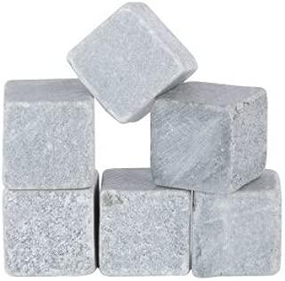 Glacier Rocks Set of 6 Soapstone Cubes by Viski